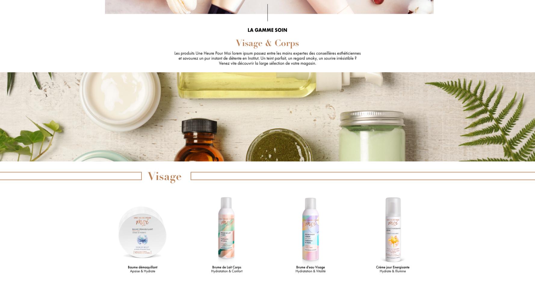 Capture d'écran de la page d'accueil du site Une Heure Pour Soi