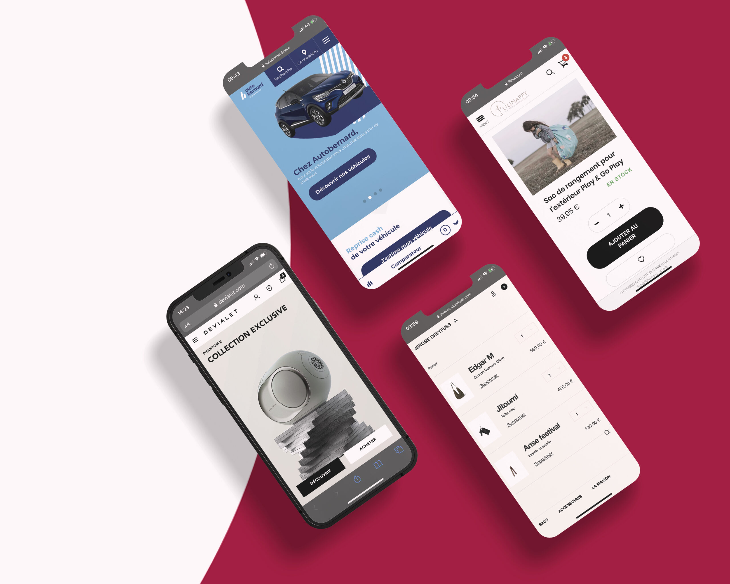 Interface solution ecommerce Front-commerce